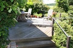 Terrassenbau aus Hartholz