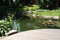 Liebevoll angelegte Teichanlagen